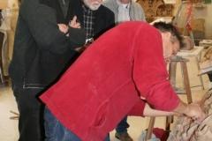 eine der intensiven Modelldiskusionen mit Herrn Dr. Berger , Herrn Dr. Hertzig und Herrn Engelmann von den Sächsischen Sandsteinwerken