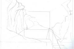 Entwurfzeichnung für Saunalandschaft