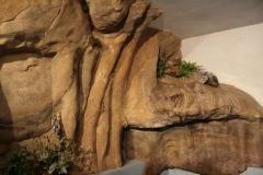 Felsgestaltung in Saunalandschaft